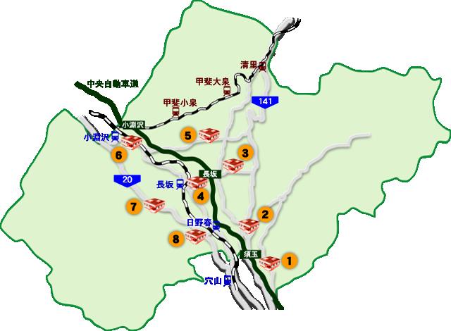 北杜市図書館マップ